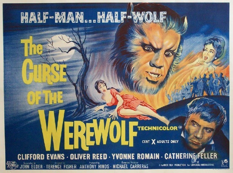 A NEW Oliver Reed The Curse of the Werewolf Movie POSTER 27 x 40 USA